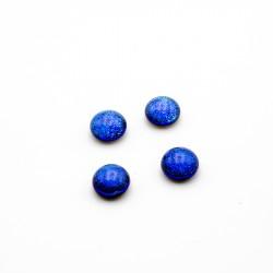 Glascabochon Purple Blue 8mm