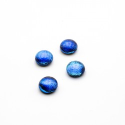 Glascabochon Vibrant Blue 9mm