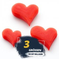 Set of 3 3D-Heart shapes