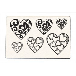 Stamp Hearts collection 1