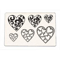 Stempel Herzen Kollektion 1