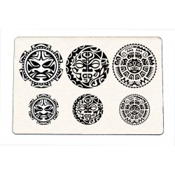 Stempel Polynesisches Tattoo