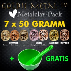 Goldie Clay Love Metalclay-Pack inkl. Anmischbecher u. Spatel