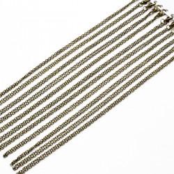 Chaîne à maillons, couleur bronze antique, longueur 45 cm