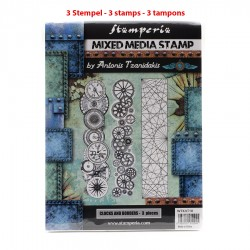 """Stamperia Clocks and Borders, Collection """"Sir Vagabond"""""""
