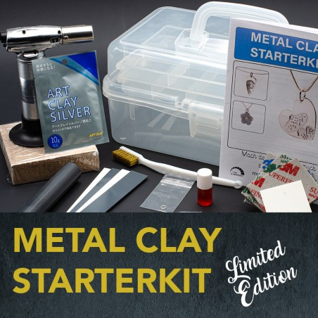Metal Clay Silver Starterset with storage box, Limited Edition