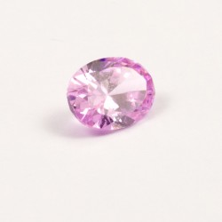 Zircone rose ovale 5x7 mm