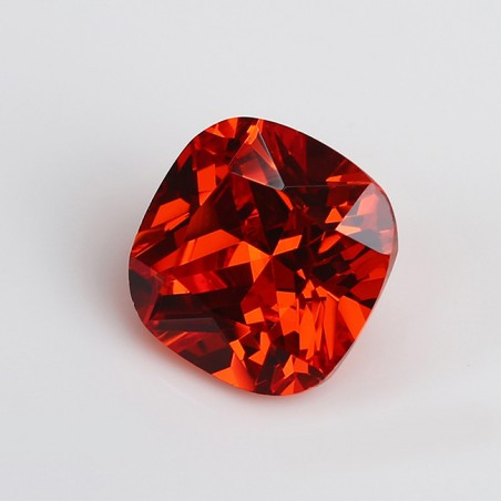 Cubic Zirkonia - Orange cushion 8x8 mm
