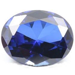 Lab Blue Sapphire oval 7x9 mm