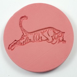 Jumping tiger silicone mould
