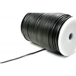 Lederband 2 mm, rund, schwarz