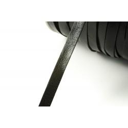 Lederband 8 mm, flach, schwarz