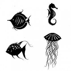 Sea creatures LAV170 stamp...