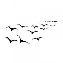 Birds LAV097 stamp by Lavinia