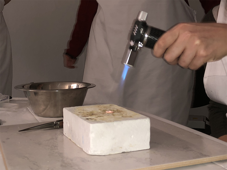 You can also burn Metal Clay Silver with a hand torch