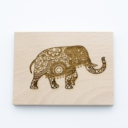 Wooden stamp Elephant