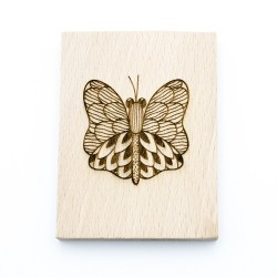 Wooden stamp Butterfly