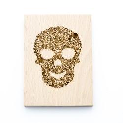 Wooden stamp Skull