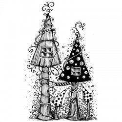 Fairy house LAV030 stamp by...